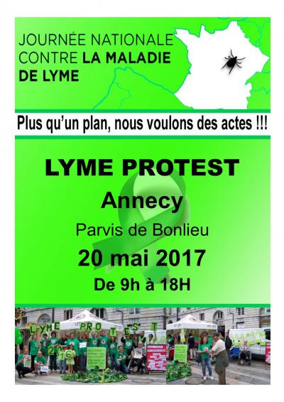 Affiche Lyme Protest annecy